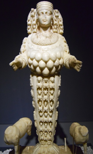 The Goddess Artemis whose temple is in Ephesus